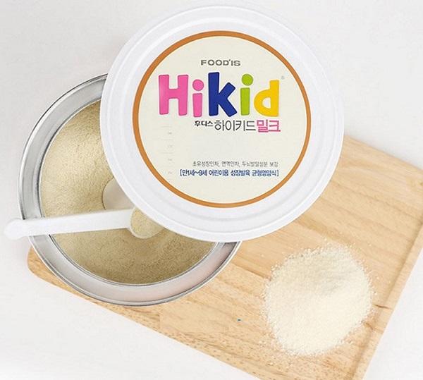 Sữa Hikid có màu trắng