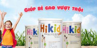 Thành phần dưỡng chất của sữa Hikid